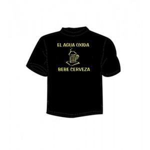 1f76bb1e2 Camiseta El Agua Oxida Bebe Cerveza