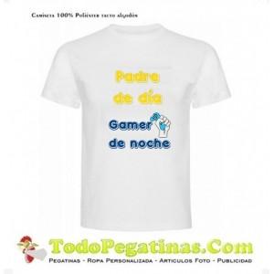 Camiseta Padre de dia Gamer de noche