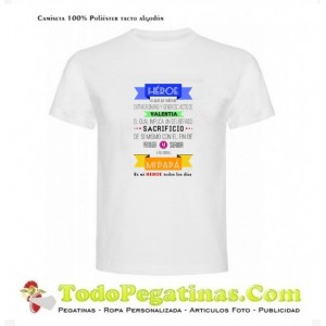 Camiseta Papa Heroe