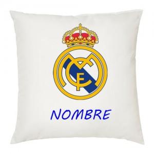 Cojin Edredon Real Madrid.Personalizado Y Cojin Real Madrid Escudo Con Texto Pkuzixo