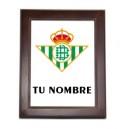 Azulejo Real Betis Personalizado Nombre