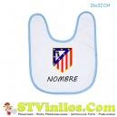 Babero Atletico de Madrid Escudo Viejo Personalizado Nombre