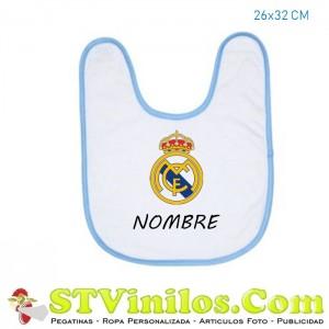 Babero Real Madrid Personalizado Nombre