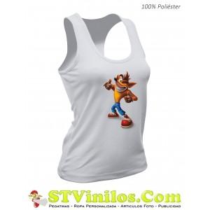 Camiseta Mujer Crash Bandicoot