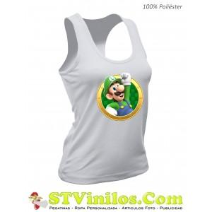 Camiseta Mujer Luigi Mario Bros