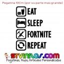 Pegatina Eat Sleep Fortnite Repeat