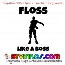 Pegatina Fortnite Floss like a boss