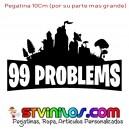 Pegatina Fortnite Logo 99 Problems