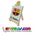 Caballete FC Barcelona azulejo personalizado con nombre