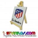 Caballete Atletico de Madrid azulejo personalizado con nombre