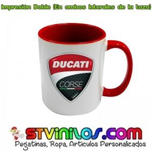Taza Logo Ducati Corse Roja