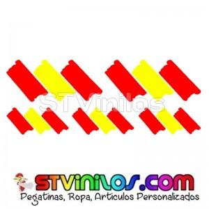 5 Pegatinas Bandera España Pincelada Trazos
