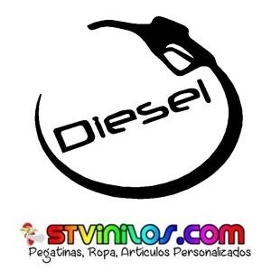 Pegatina Diesel manguera curva