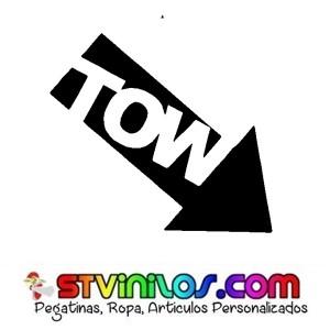 Pegatina Flecha TOW Gancho Remolque Coche Circuito