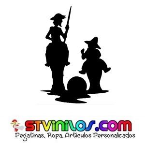 Pegatina Don Quijote y Sancho Panza