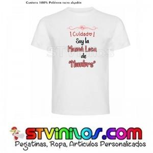 """Camiseta Soy la mama loca de """"nombre personalizado"""""""