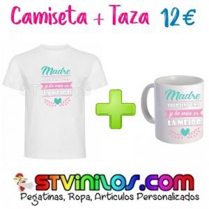 Camiseta + Taza: Madre solo hay una y la mia es la mejor