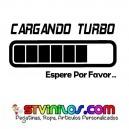 Pegatina Cargando Turbo espere por favor