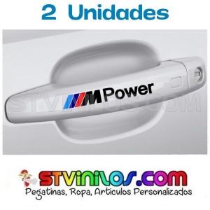 Pegatina M Power BMW para tirador de puerta de coche manija maneta