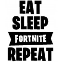 Vinilo Eat Sleep Fortnite Modelo 2 Decorativo Pared