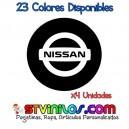 Pegatina Tapa Llanta Nissan Logo Vinilo buje eje tapon rueda