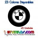Pegatina Tapa Llanta BMW Logo Vinilo buje eje tapon rueda