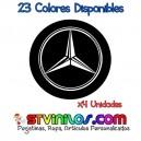 Pegatina Tapa Llanta Mercedes Benz Logo Vinilo buje eje tapon rueda