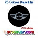Pegatina Tapa Llanta Mini Cooper Logo Vinilo buje eje tapon rueda