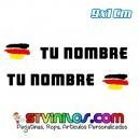 Pegatina Nombre con Bandera Alemania Trazos Pincelada 9 CM