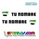 Pegatina Nombre con Bandera Extremadura Trazos Pincelada 9 CM
