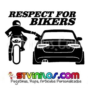 Pegatina Respect For Bikers Modelo 2