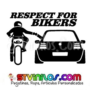 Pegatina Respect For Bikers Modelo 3