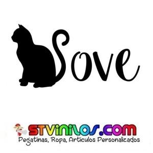 Pegatina Gato Love