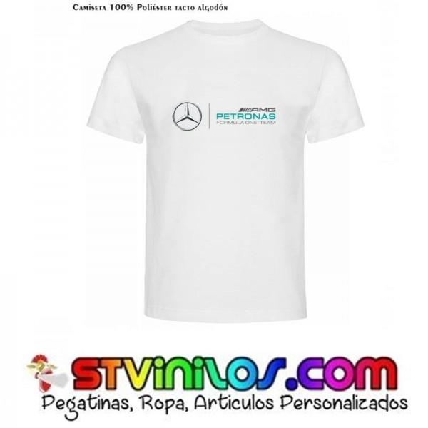 Mercedes AMG Petronas Camiseta para Hombre Color Blanco Talla XL