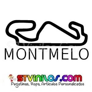 Pegatina Circuito Montmelo Barcelona Catalunya