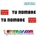 Pegatina Nombre con Bandera Madrid 9 CM