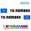 Pegatina Nombre con Bandera Asturias 9 CM