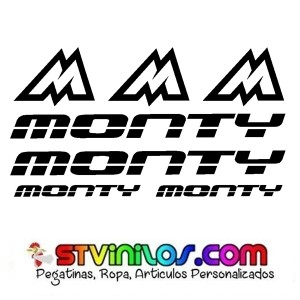 Pegatinas Bicicletas Monty 4