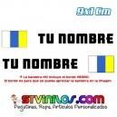 Pegatina Nombre con Bandera Canarias 9 CM