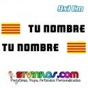 Pegatina Nombre con Bandera Catalunya Cataluña 9 CM