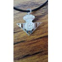 Colgante Plata Escudo Real Betis Troquelado con Collar de hilo