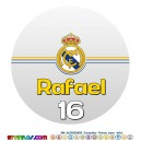 Oblea Real Madrid Personalizada con nombre y edad