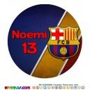 Oblea FC Barcelona Barça Personalizada con nombre y edad