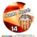 Oblea Valencia CF Personalizada con nombre y edad