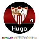 Oblea Sevilla FC Personalizada con nombre y edad