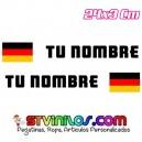 Pegatina nombre con bandera Alemania Clasica tipo Rally Rallye