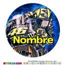 Oblea Valentino Rossi Personalizada con nombre