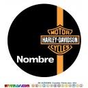 Oblea Harley Davidson Personalizada con nombre