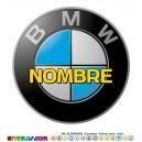 Oblea BMW Personalizada con nombre