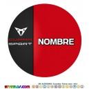 Oblea Cupra Seat Sport Personalizada con nombre